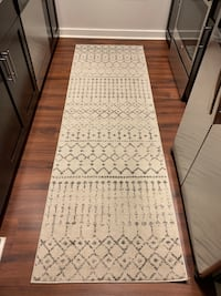 Gray and off white runner rug Malden, 02148