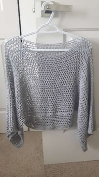 Light gray color blouse in size Medium