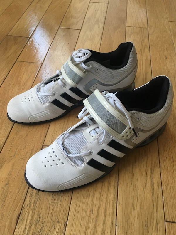 ad25a1ed4258 Used ADIDAS ADIPOWER OLYMPIC WEIGHTLIFTING SHOES MEN S SZ 11 WHITE CROSSFIT  for sale in Hoboken