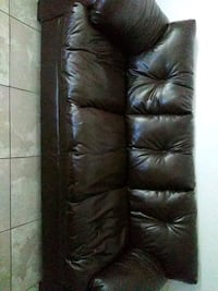 black leather 3-seat sofa Fort Lauderdale, 33311