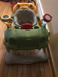 Green jeep activity walker