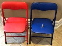 Toddler steel foldable chairs  Mississauga, L5E 3K5