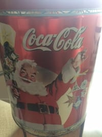 Large Vintage Coca Cola Tin - Santa London