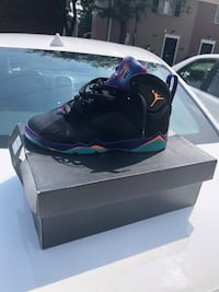 Black-and-purple air jordan 7 shoes Alexandria, 22312