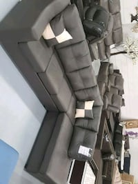 Modern real leather Canadian made sectional  Toronto, M9W 1P6