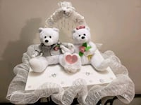 Rent only, white and pink bear decor Mississauga, L5M 0A5