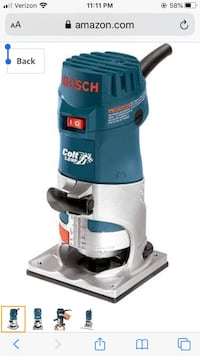 Bosch PR20EVS 1 HP Variable Speed Palm Router Takoma Park, 20912