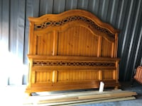 brown wooden headboard and footboard Chantilly, 20151