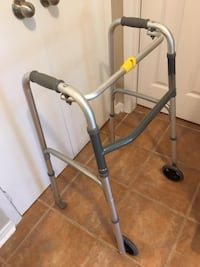 Walker, foldable with 2 wheels, adjustable legs/height, lightweight - $45. Mississauga Mississauga
