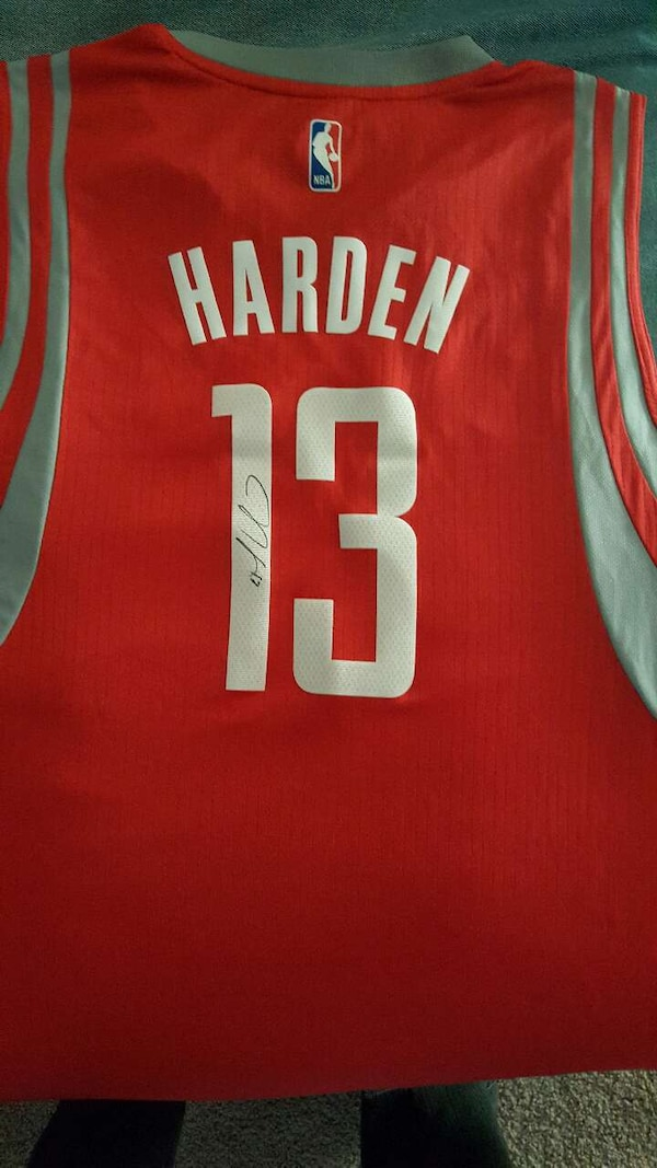 on sale 11f3e a8a66 Signed James Harden Adidas jersey