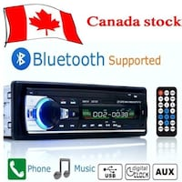 black bluetooth car stereo with remote control