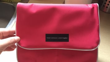 Pink French connection make up bag - new