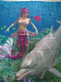 Mermaid and dolphin curtains two panels Kissimmee, 34746
