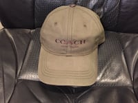 brown Coach suede baseball cap ROCKVILLE