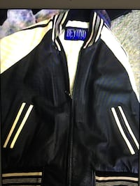 black and white beyond brand letterman jacket 3154 km