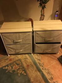 2 Brown wooden 2-drawer chest Washington