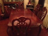 brown wooden dining table set Toronto, M6M 3B8