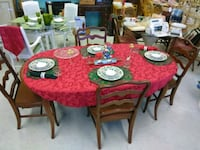 wooden table with four chairs & Christmas dining  Bradenton, 34207