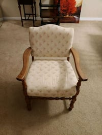 Antique floral upholstered wooden chair Pasco County, 34638