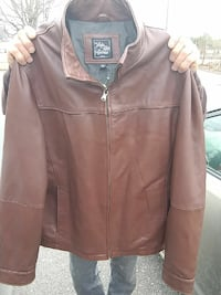 New! Mens Saks fifth avenue Leather