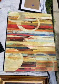 Beautiful abstract painting - brown/red/blue/tan Modesto, 95355