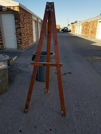 brown wooden painting stand
