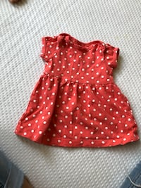 girl's red and white polka dot dress Rialto, 92376