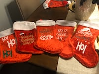 Christmas stockings various sayings Each  Sterling, 20166