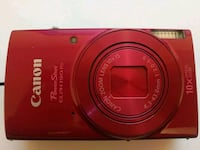Red Canon Power Shot Elph 190IS