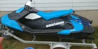 blue and black Seadoo personal watercraft Red Deer, T4P 2A8