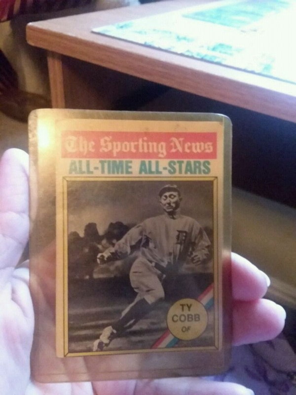 Ty Cobb badeball card
