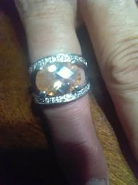 silver embellished ring brand new gorgeous stone Clovis, 93612