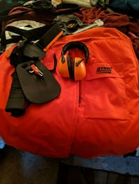 Stihl chainsaw chaps and head phones Rock Hill