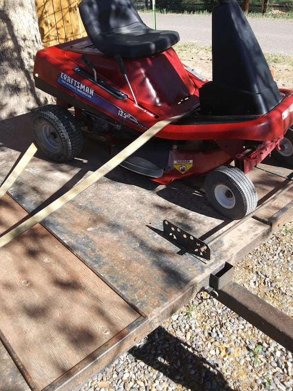 Craftsman ridding mower and trailer 42749bf5-95ff-4c91-9d6d-3c3904ce561d