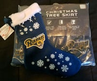 NFL LA Rams Christmas Tree Skirt & Stocking Fresno, 93706