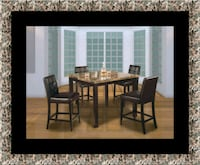 Marble tall table with 4 leather chairs Lanham, 20706