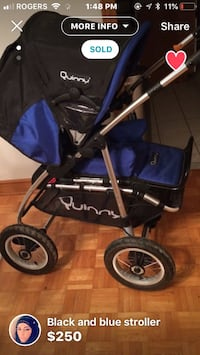 baby's blue and black stroller Innisfil, L9S 2L2