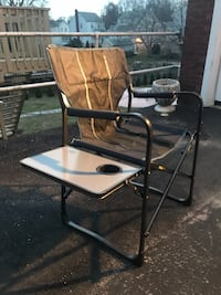 Foldable canvas chair / side table / beverage holder. Take this!!  Yonkers, 10704