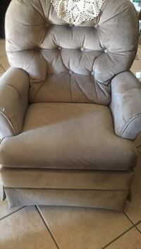 Like new great chair for mommy and baby swivel and rucking soft velveteen swivel for mom and baby Las Vegas, 89120