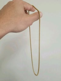gold-colored rope-link necklace Pickering, L1V 7J1