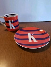 """KATE SPADE """"TO THE LETTER"""" cup and dish"""