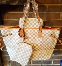 damier azur Louis Vuitton tote bag