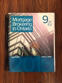 Mortgage Brokering in Ontario , 9th edition Markham