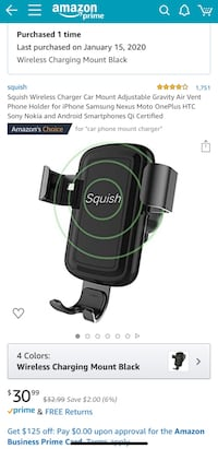Wireless charger Car mount for IPhone and Samsun Fredericksburg, 22405
