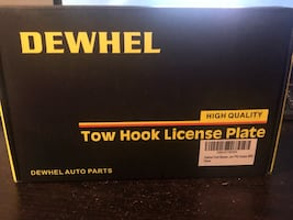 Tow Hook License Plate