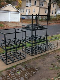 """STACKABLE Pallet Style Bottom Angle Iron Frames $25 EACH 28"""" T ~ 42 1/2"""" x 38"""" West Haven"""