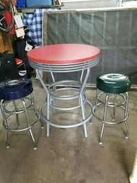 two red and white bar stools Madison, 53704