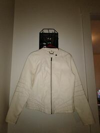 white leather zip-up jacket Monticello, 12701