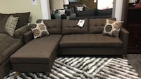 Reversible fabric sectional.