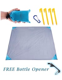 Pocket Blanket for Beach Festival - Camping Hiking Compact Size